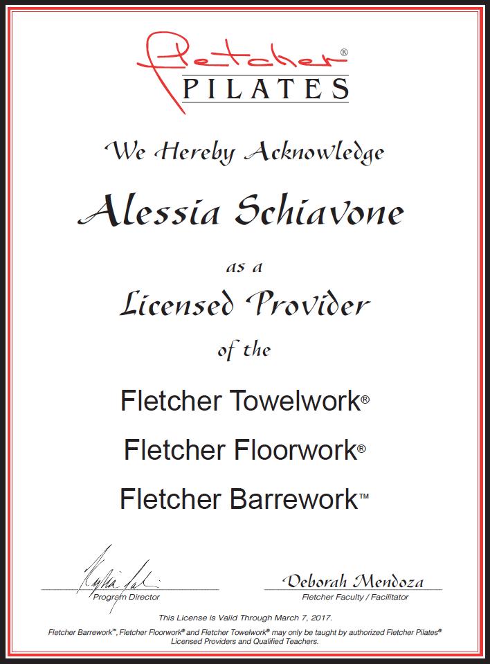 Certificazione Fletcher